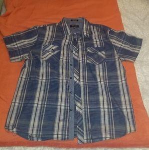 Casual short sleeve button down shirt